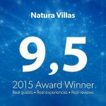 Natura Villas received an award from Booking for the year 2015
