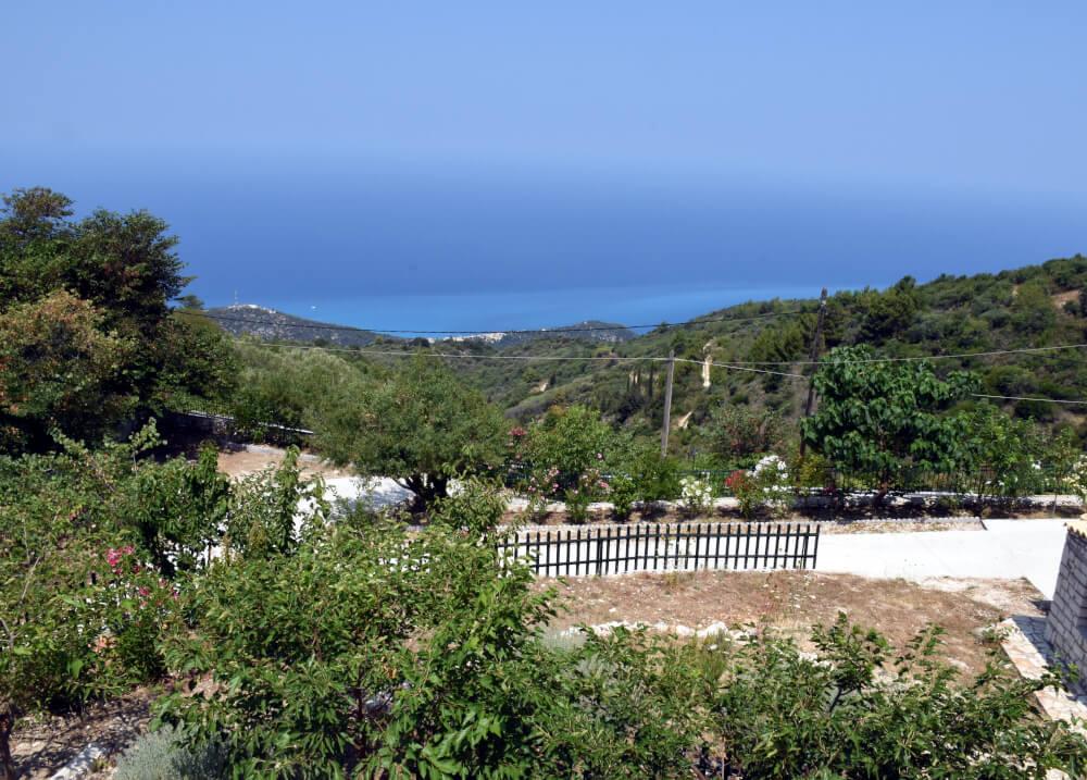 Θέα του Ιονίου από τα υπνοδωμάτια στη Natura Villas