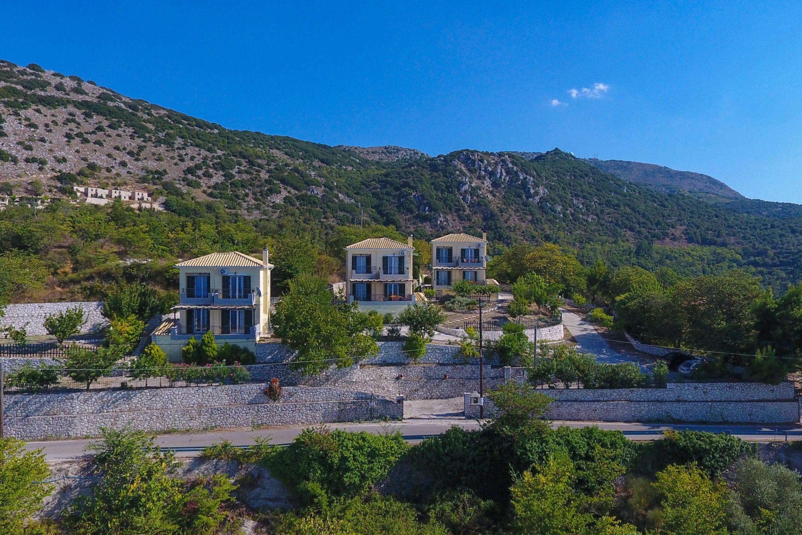 Vue extérieure de Natura Villas en Lefkada