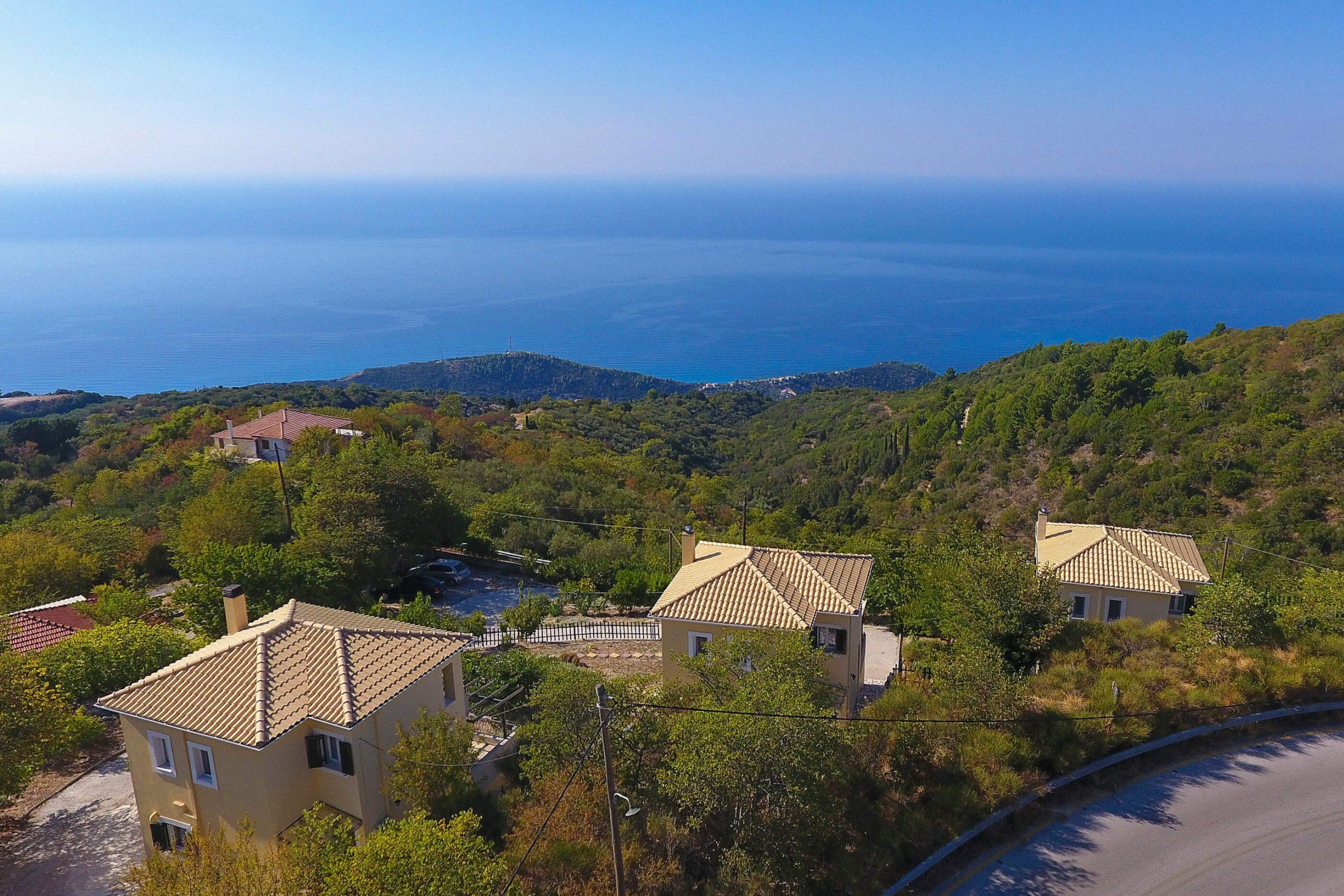 Vue magnifique sur la mer Ionienne de Natura Villas